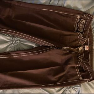 Trure Religion Dark Brown Straight leg jeans sz 32
